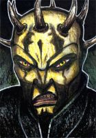 Savage Opress 2 Sketch Card by geralddedios