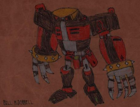 E-123 Omega (brown paper bag drawing) by HazardFire715