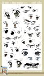 20 Ways to Draw Manga Eyes by markcrilley