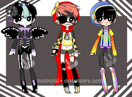 Auction Adoptables// (CLOSED) by ponponii