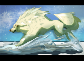 Snowlion Sanggyai [Free Art] by azaskal