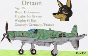 Ortaon and his Do-335 by DingoPatagonico