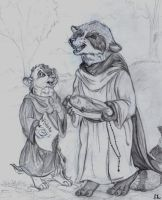 The Fish Friar and Chip Monk by Frodo-Lion