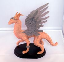Noble Feather-Winged Dragon by LittleDragonDesigns