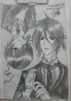my THIRD draw of Black Butler by HelenaWT