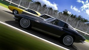 Vintage muscle car racing 2 by RaynePhotography