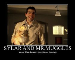 Sylar and Mr.Muggles by PureBloodedRen
