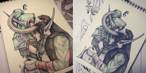 Tyrande and Illidan by AnryMaryMortem