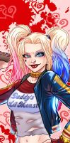 Harley Quinn Panel Art 2 by RichBernatovech