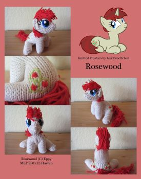 Knitted Plushies - Rosewood (OC) by haselwoelfchen