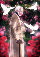 Christopher Lee by Okina-tyan