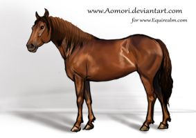 Commission sketch - Mustang by Aomori