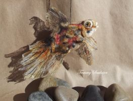 Realistic Gold fish by Tammysoul