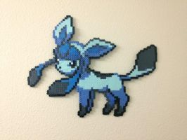 Glaceon - Fuse Beads by chocovanillite