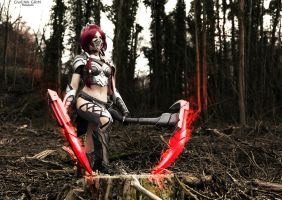 Akali headhunter cosplay by Bahamut95