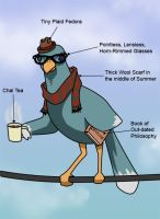 Hipster Bird by KiubezUndermann