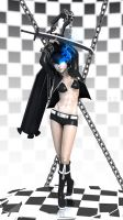 Black Rock Shooter X 3neetee pose 3 by palp