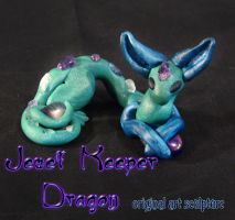 Jewel Keeper Dragon Sculpture by Ilenora