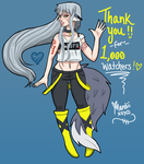 Thank You for 1K Watchers!! by themandii