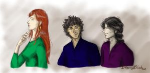 Lily, James and Sirius by DesmyBlack