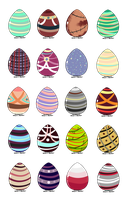Gigantic Egg Set 1/20 by Save-A-Life-Adopts