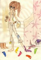 Amy the Barefoot Decorator by barefoot-literature