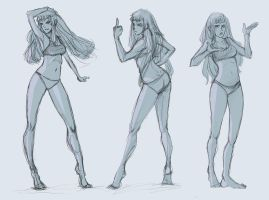 pose drawings by doven