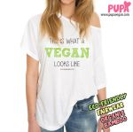 This is what a vegan looks like T-shirt design by Pupavegan