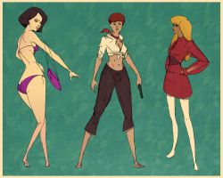 Bond Girl Sketches by Appylon