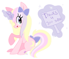 Thanks for 300 subs!! by SugarMoonPonyArtist