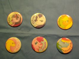 Inspirational Pony Buttons for sale! by Nissatron5000