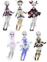 Mixed outfit adopts - CLOSED by kawaii-antagonist