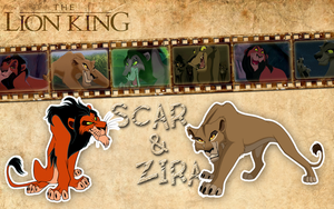 Scar and Zira | TLK - Wallpaper by Howie62