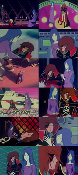 Captain Harlock and Miime by TheWolfPoet23
