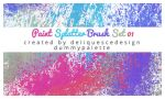 Paint Splatter Photoshop Brush by deliquescedesign