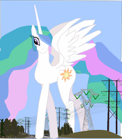 Celestia is still the tallest mare in Equestira by OceanRailroader