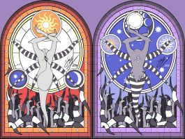 Ectonurite Stained-Glass - Day and Night ver - by smiley-kei