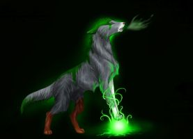 .: Howling on orbs :. by Shien-Ra
