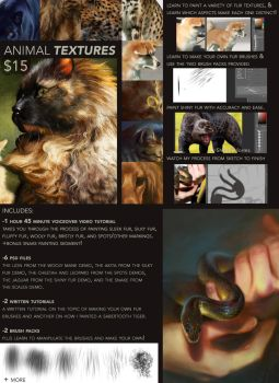 Painting Animal Textures Tutorial by TamberElla