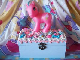My Little Pony Jewelry Box Cotton Candy by lessthan3chrissy