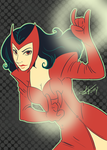 Tumblr Palette Meme: Scarlet Witch in #1 by GinnyMilling