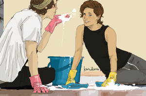 TS household - cleaning after New Year's party 1 by Itskaraoke
