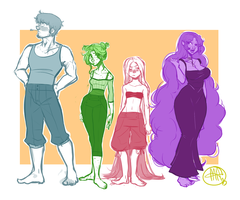 Legends Characters by carlymaedraws