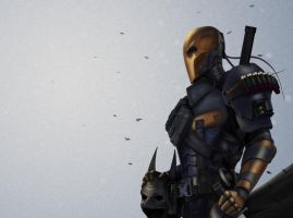 Deathstroke - Batman Origins by InkTheory-Design