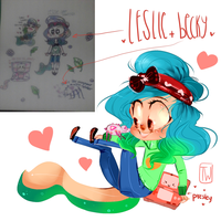 Leslie And Becky Spider before and after by temporaryWizard