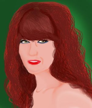 Digital Portrait Of Florence Welch by Evanescentgreen