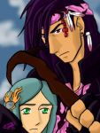 Caius and Yeul by utena11221
