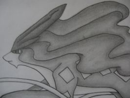Suicune drawing - Close up by sazmullium