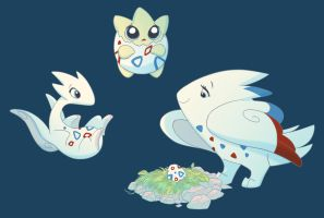 Togepi, Togetic, Togekiss by ThisCrispyKat