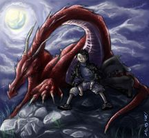 A Boy And His Dragon by Sayda